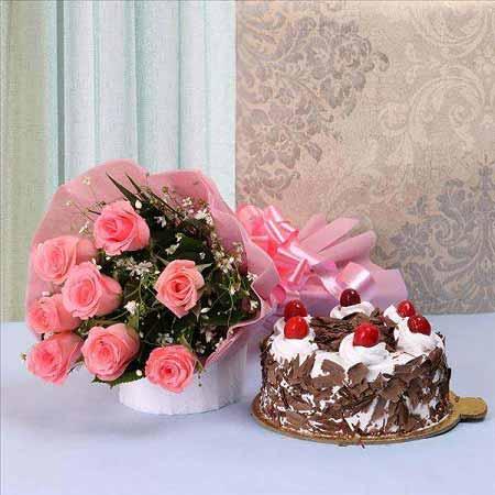Pink Roses & Black Forest