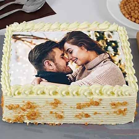 Square Scotch Photo Cake