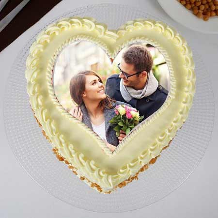 Photo Heart Scotch Cake