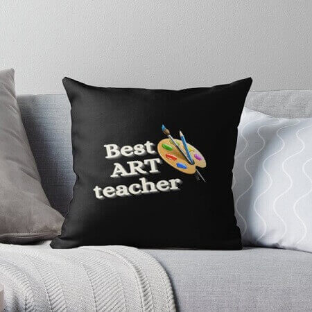 Best Art Teacher Cushion