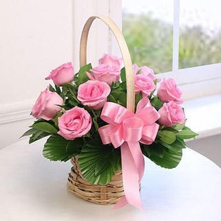 Pink Smile Basket