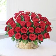 Big Red Rose Basket