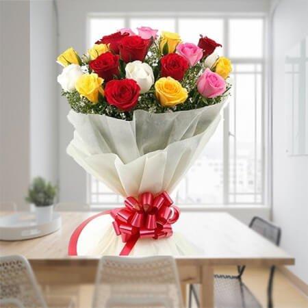 Big Mixed Roses