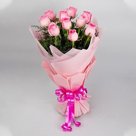 Pink Flowers in Bouquet