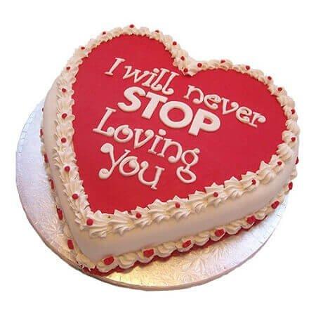 Love in Heart Cake