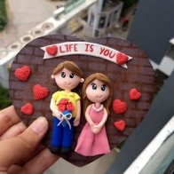 Couple Clay Magnet