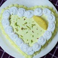 Vanilla Heart Shape Rasmalai