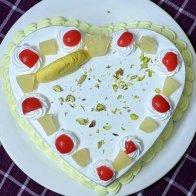 Heart Shape Rasmalai Cake
